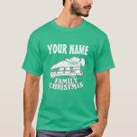 camiseta del árbol de navidad de la familia de los