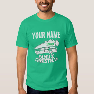 camiseta del árbol de navidad de la familia de los remeras