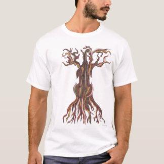 Camiseta del árbol del violoncelo
