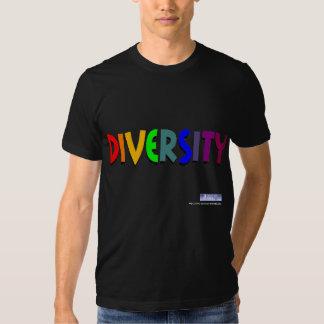 Camiseta del arco iris de la diversidad playeras