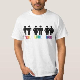 Camiseta del arco iris del amor del amor del amor camisas