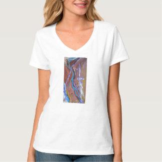 Camiseta del arte abstracto del abismo para las