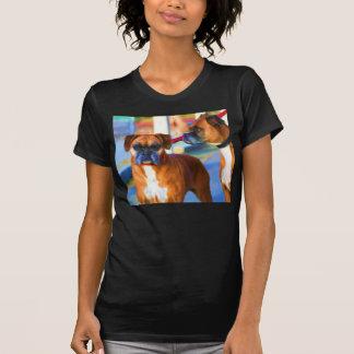 Camiseta del arte de dos boxeadores polera