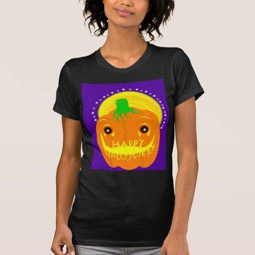 Camiseta del arte de la calabaza playera