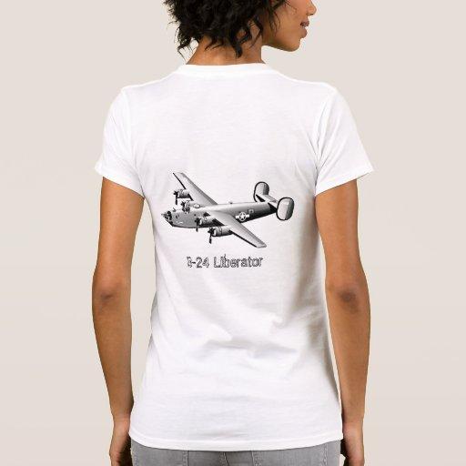 Camiseta del arte de la nariz del libertador B-24