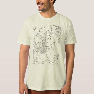 Camiseta del arte de la roca del estilo de los playera