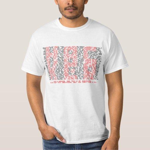 Camiseta del arte de la tipografía del manifiesto
