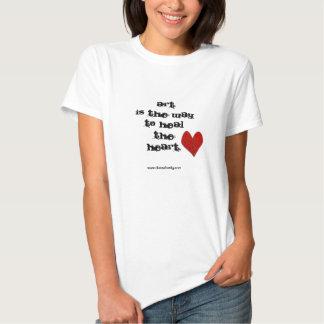"""Camiseta del """"arte/del corazón"""" (con imagen cosida playera"""