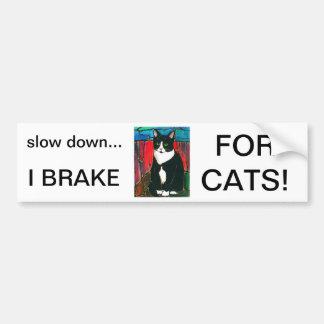 Camiseta del arte del diseño del vitral del gato d pegatina para auto