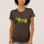 Camiseta del arte gráfico del Don Quijote y de San