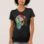 Camiseta del arte gráfico del perro de caza