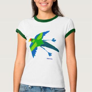 Camiseta del arte: Loro y pájaros Remera