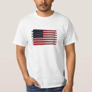 Camiseta del arte pop del bate de béisbol de la