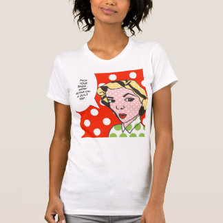 Camiseta del arte pop del viaje de culpabilidad