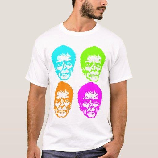 camiseta del arte pop del zombi