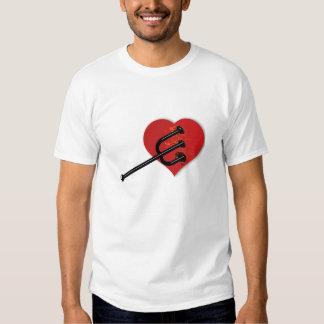 Camiseta del asesino del corazón playeras