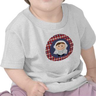 Camiseta del astronauta de las estrellas rojas y a