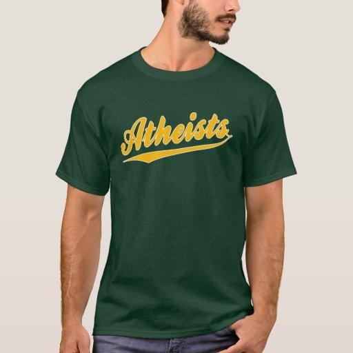 Camiseta del ateo del equipo del estilo del