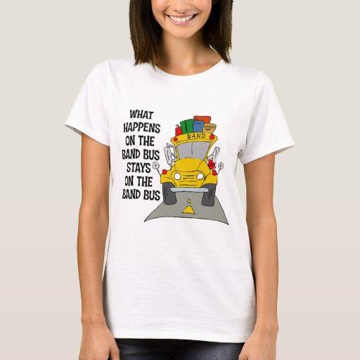 Camiseta del autobús de la banda
