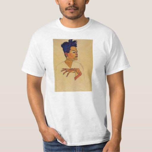 Camiseta del autorretrato de Egon Schiele