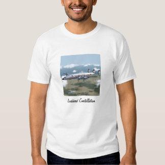 Camiseta del avión de pasajeros de la constelación playera