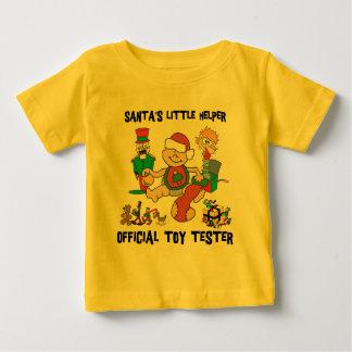 Camiseta del ayudante de 1r Santa del navidad del Playeras