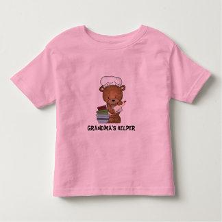 Camiseta del ayudante de la abuela playera