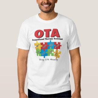 Camiseta del ayudante de la terapia profesional poleras