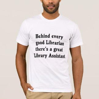 Camiseta del ayudante del bibliotecario