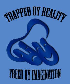 Camiseta del azul de la imaginación de la máscara