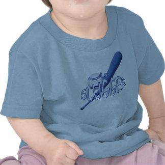 Camiseta del azul del bateador de Lil del béisbol