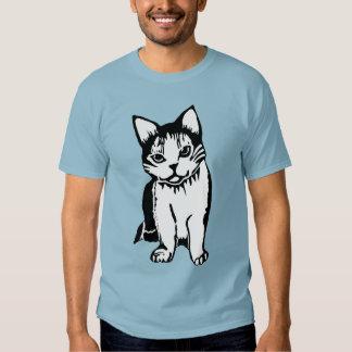Camiseta del azul del dril de algodón de los playera