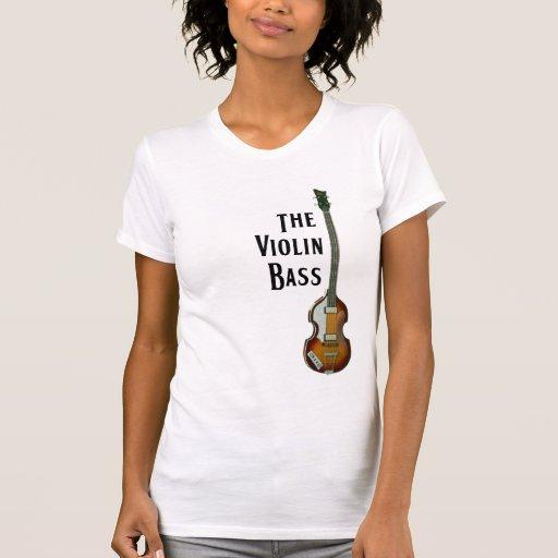 Camiseta del bajo del violín
