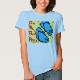 Camiseta del balanceo de las mujeres playeras