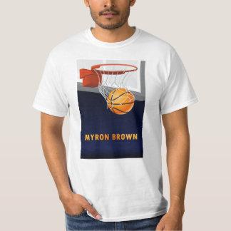 Camiseta del baloncesto de Myron Brown Playeras