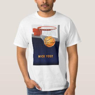 Camiseta del baloncesto de Nick Yost