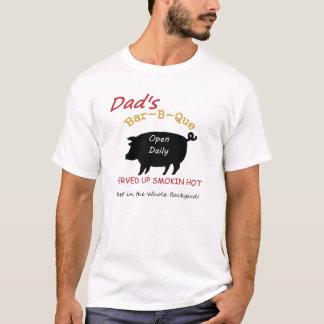 Camiseta del Bbq del papá