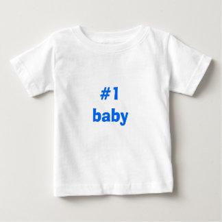 Camiseta del bebé #1 playeras