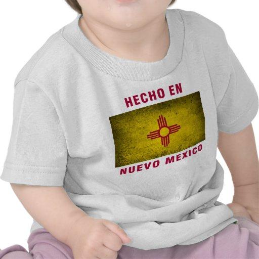 Camiseta del bebé - bandera del en Nuevo México de