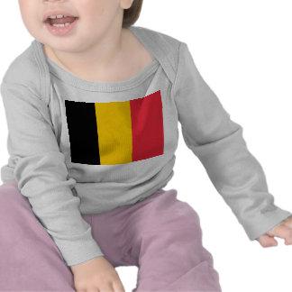 Camiseta del bebé con la bandera de Bélgica