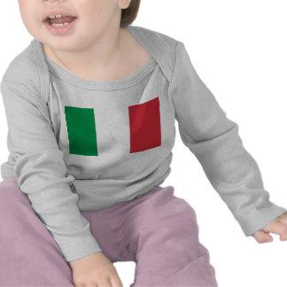 Camiseta del bebé con la bandera de Italia