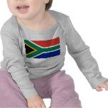 Camiseta del bebé con la bandera de Suráfrica