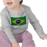 Camiseta del bebé con la bandera del Brasil
