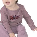 camiseta del bebé de 3 faeries (no hable, vea y oi