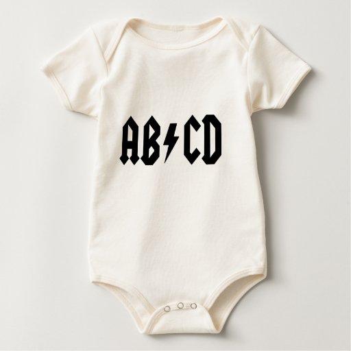 Camiseta del bebé de ABCD