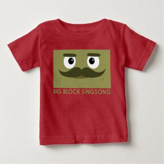Camiseta del bebé de BBSS Moustachios #1 Remeras