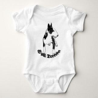 Camiseta del bebé de bull terrier poleras