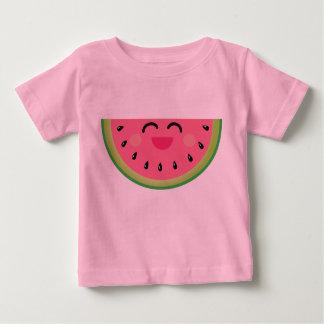 Camiseta del bebé de Kawaii de la sandía Polera