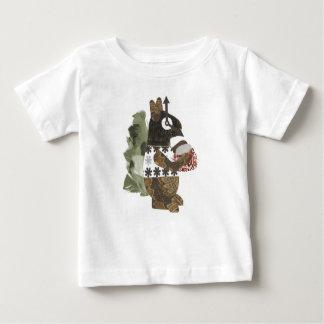 Camiseta del bebé de la ardilla del ladrón playeras