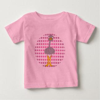 Camiseta del bebé de la avestruz